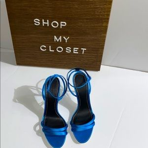 Zara Satin High Heel Sandals Size 10
